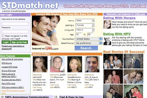 dating websites with std