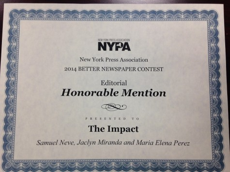 Impact Wins Editorial NYPA Award