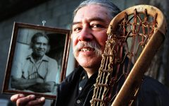 Onondaga Man Using Lacrosse As A Tool For Restoring Native American Tradition