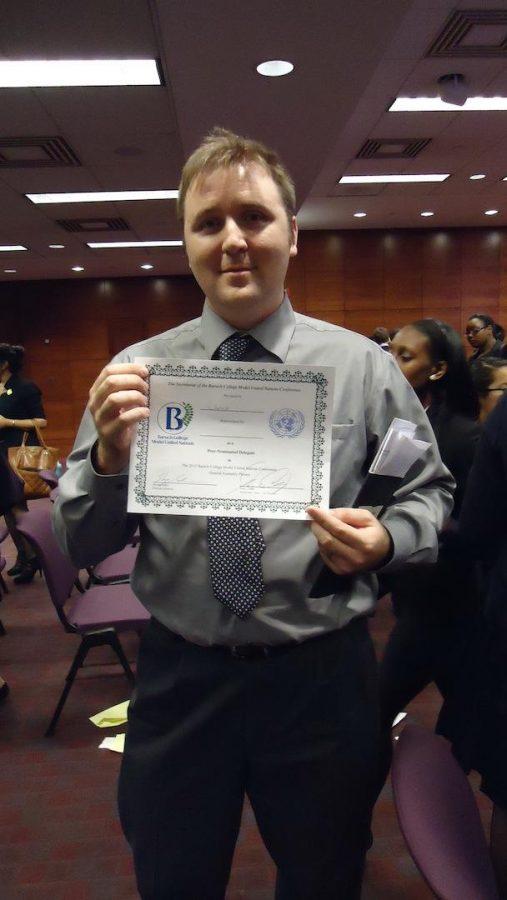 Model UN Student Wins Top Delegate Honor