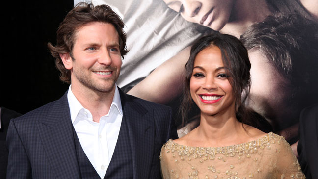 BRADLEY COOPER AND ZOE SALDANA AT THE MOVIE PREMIERE FOR THE WORDS.