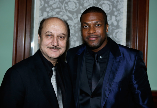 NICE PHOTO OF ANUPAM KHER WHO PLAYS PAT'S THERAPIST IN MOVIE WITH CHRIS TUCKER.