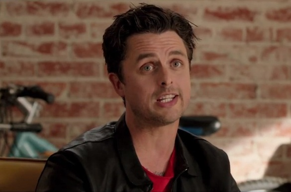 """BILLIE JOE ARMSTRONG FROM THE PUNK ROCK BAND GREEN DAY IN A SCENE FROM MOVIE """"THIS IS 40""""."""