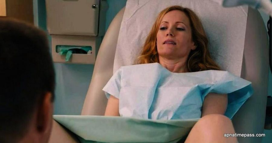 SCENE IN THE MIDDLE OF THE MOVIE -  CHARACTER DEBBIE FINDS OUT THAT SHE IS PREGNANT WITH HER THIRD CHILD. SHE IS WORRIED ABOUT HOW HER AND HER HUSBAND WILL BE ABLE TO AFFORD ANOTHER CHILD.
