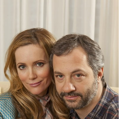 POSING FOR CAMERA - LESILE MANN AND JUDD APATOW