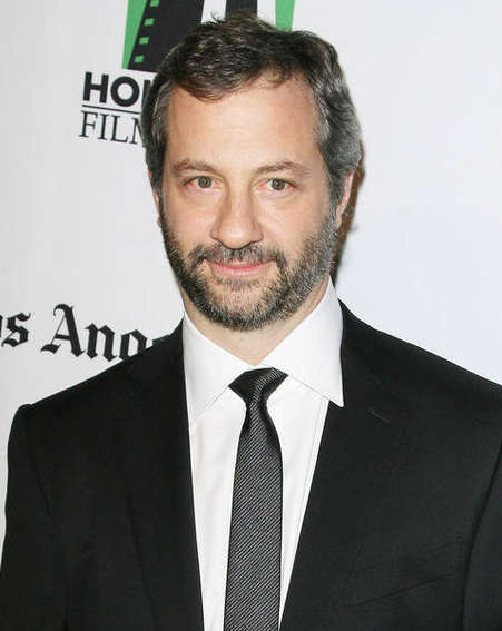 """JUDD APATOW - FAMOUS COMEDY DIRECTOR AND DIRECTOR OF """"THIS IS 40"""" WEARING A BLACK SUIT."""