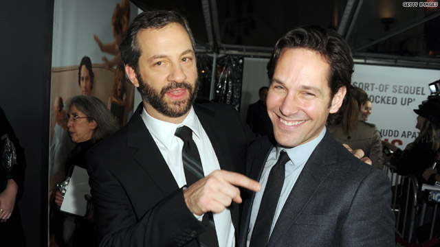 JUDD APATOW AND PAUL RUDD TOGETHER AT MOVIE PREMIERE.