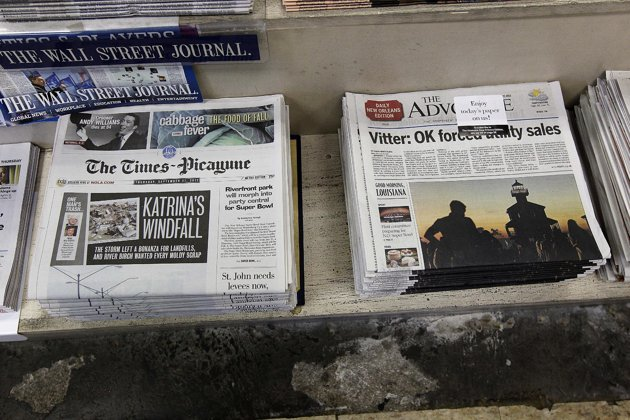 TIMES PICAYUNE ON NEWSSTAND