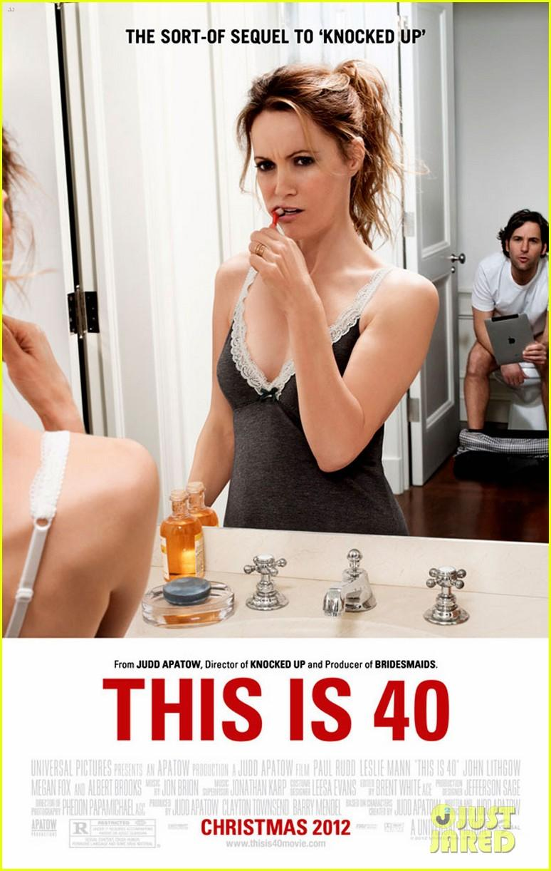 """LESILE MANN - """"THIS IS 40"""" MOVIE POSTER OF HER BRUSHING HER TEETH."""