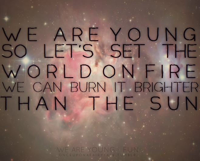 WE ARE YOUNG - IN THE SKY