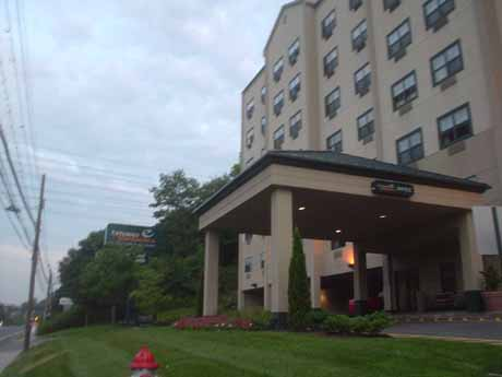 A small fire in Extended Stay America in Elmsford, NY, leaving Mercy students without a room to stay in.