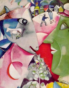 "Play and Script - Based on the Painting - ""I am the Village"" by artist Marc Chagal"