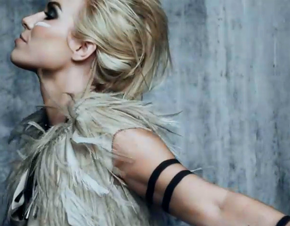 """NATASHA BEDINGFIELD AS A WARRIOR IN HER MUSIC VIDEO FOR HER SONG """"STRIP ME."""" SHE IS SHOWING THAT SHE IS STRONG AND FEARLESS LIKE A WARRIOR."""