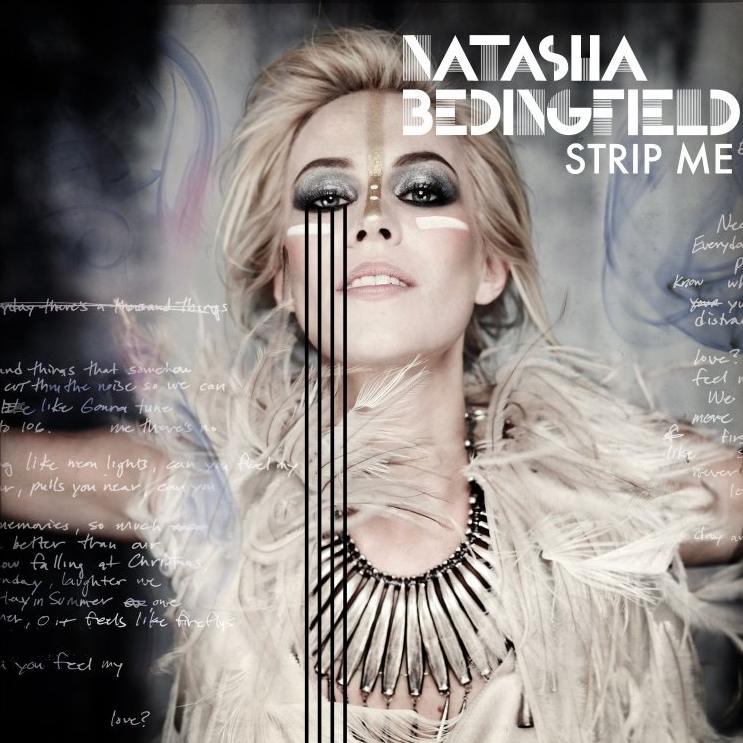 "NATASHA BEDINGFIELD CD COVER TO ""STRIP ME"" RELEASED IN 2010."