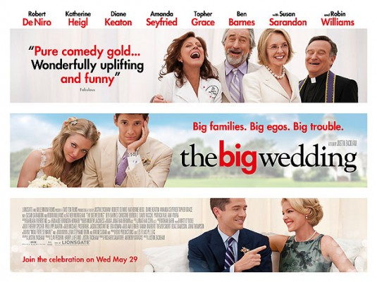 """THE BIG WEDDING"" THREE DIFFERENT MOVIE BANNERS."