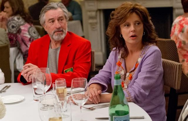 "ACTOR - ROBERT DE NIRO AND ACTRESS - SUSAN SARANDON WHO PLAY LOVERS AND PARENTS IN MOVIE ""THE BIG WEDDING""."
