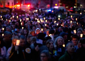 Boston Marathon candle lighting