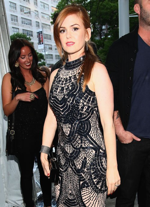 ACTRESS - ISLA FISHER LOOKING SEXY AT A CELEBRITY AFTER PARTY.