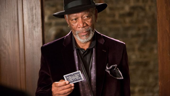 "ACTOR - MORGAN FREEMAN IN A SCENE FROM THE MOVIE ""NOW YOU SEE ME."""