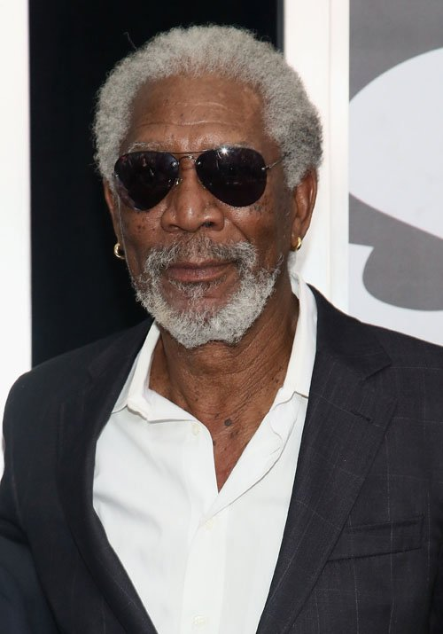 ACTOR - MORGAN FREEMAN LOOKING SEXY IN HIS SUNGLASSES.