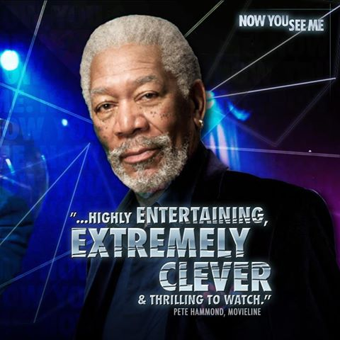 "ACTOR - MORGAN FREEMAN AS HIS CHARACTER IN THE MOVIE ""NOW YOU SEE ME."""