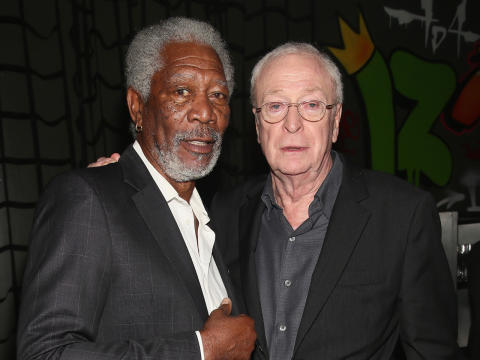 ACTORS - MORGAN FREEMAN AND MICHAEL CANE.