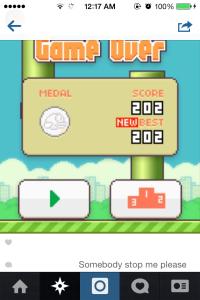 flappy bird instagram screenshot 2
