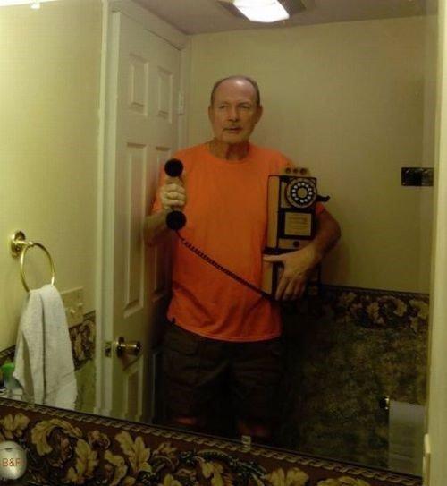 Grandpa's on Grindr.