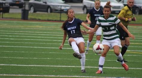 Serna Bookends Pair of Goals as Women's Soccer Blanks Bloomfield, 5-0