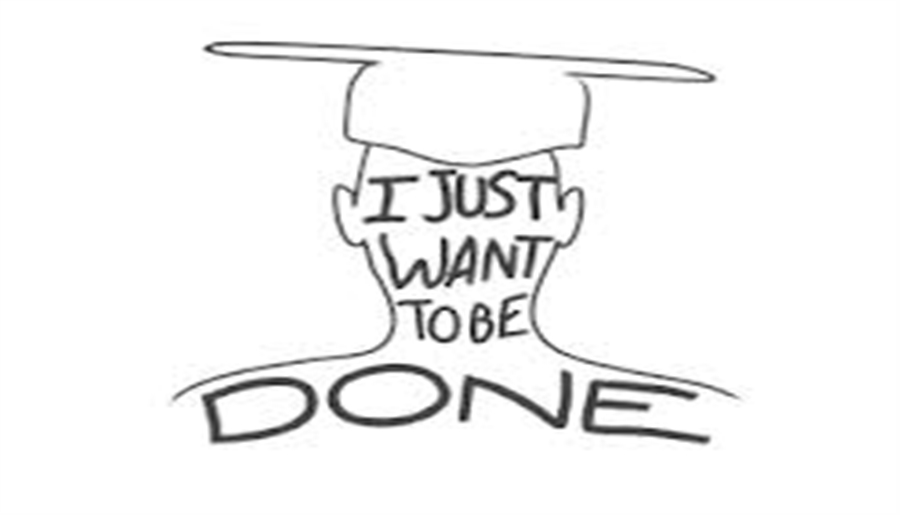 Stressed Out College Student Cartoon