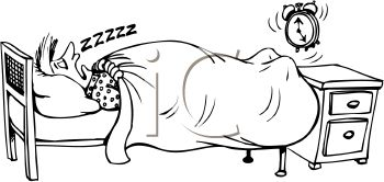 0511-1001-2705-5339_Cartoon_of_a_Guy_Sleeping_Through_His_Alarm_clipart_image