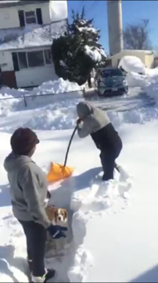 Shoveling For The First Time