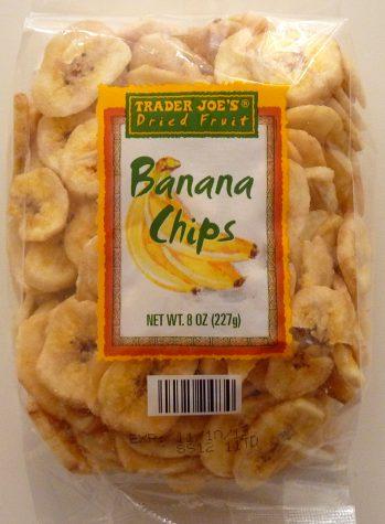 Banana chips front