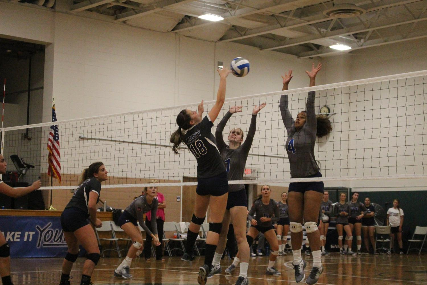 Danielle Sarasky is a force to be reckoned with near the net.