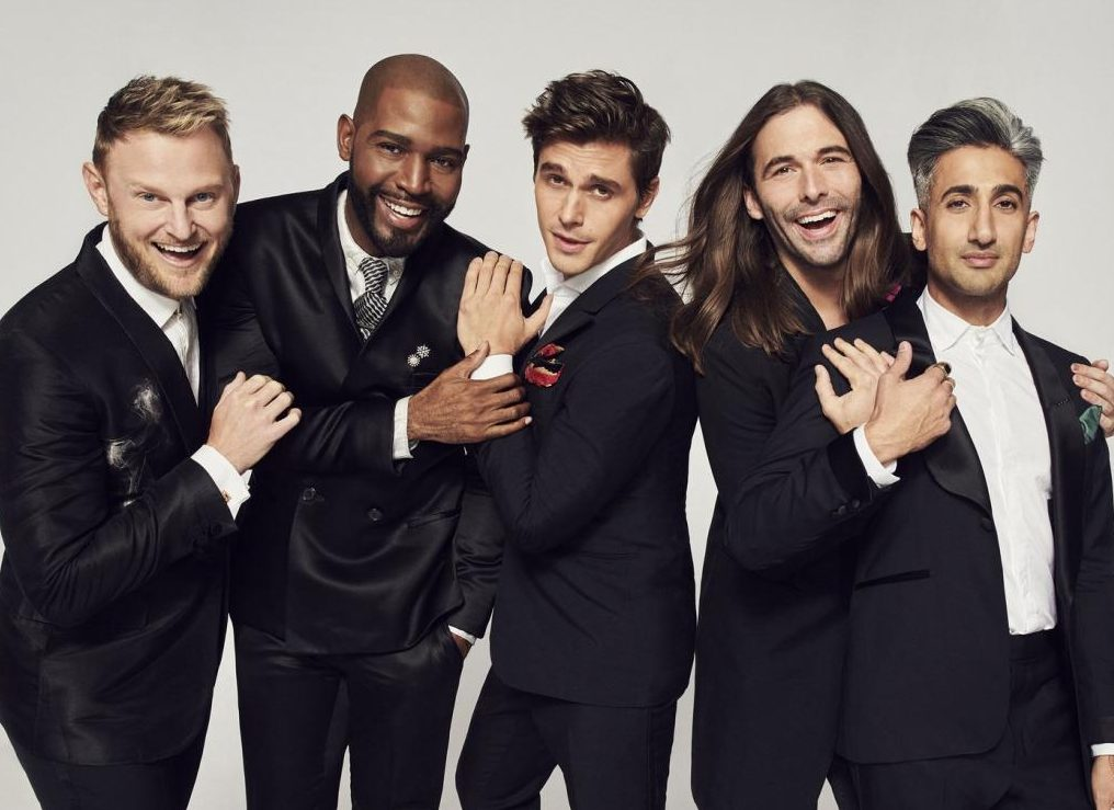 Bobby Berk (interior design), Karamo Brown (culture), Antoni Porowski (cooking), Jonathan Van Ness (grooming), and Tan France (style), make up the new Fab Five on Netflix's 'Queer Eye'.