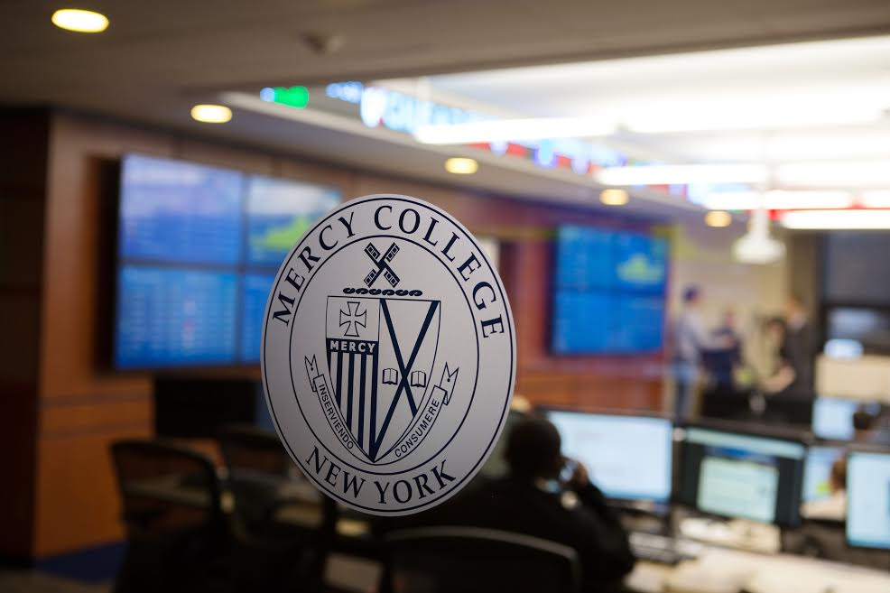 Mercy College Stock Trading Room at the Dobbs Ferry Campus