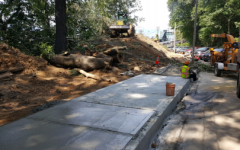 Mercy Near Completion On New Walk Path To Train Station