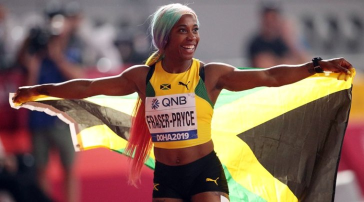 Shelly-ann Fraser Pryce At The World Championships