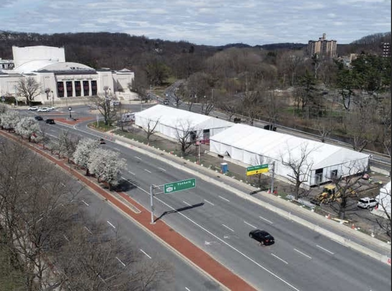 COVID-19: Transformation of Westchester County Center into Temporary Hospital