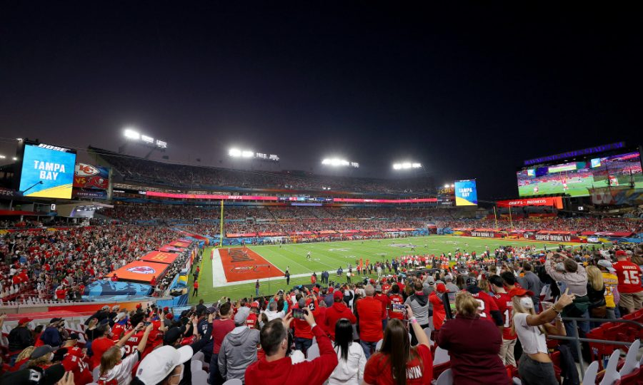 TAMPA, FLORIDA - FEBRUARY 07: A genera view in Super Bowl LV at Raymond James Stadium on February 07, 2021 in Tampa, Florida. (Photo by Kevin C. Cox/Getty Images) ORG XMIT: 775612539 ORIG FILE ID: 1300902371